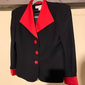 Vintage silk and wool 1980's suit blazer jacket